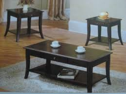 wood coffee end tables 3394 dark brown wood coffee table 2 end tables set furniture in