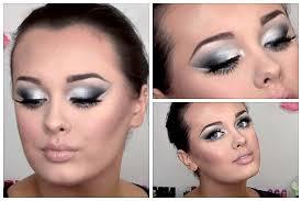 black silver smokey eye makeup tutorial