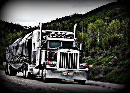 flatbed pete truck flatbed big rig