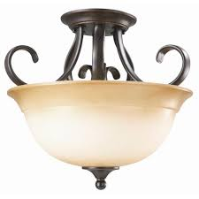 design house cameron 2 light oil rubbed bronze semi flush mount light fixture 512608 the home depot
