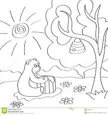 Illustrazione Di Vettore Dellorso Sveglio Del Fumetto Per Il Libro