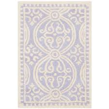 cambridge lavender ivory 3 ft x 4 ft area rug