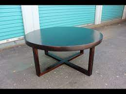 round wood coffee table easy peasy