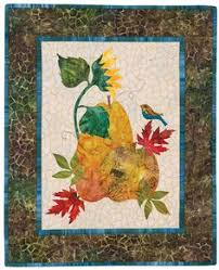 The September block from Seasonal Silhouettes by Edyta Sitar for ... & The October block from Edyta Sitar's Seasonal Silhouettes.  http://landauerpub.com Adamdwight.com