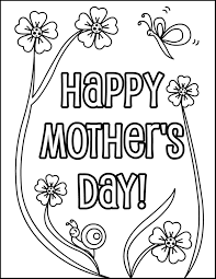 Small Picture Its a Mothers Day coloring page for kids So grab your crayons