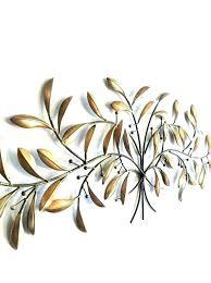 palm leaf wall art gold metal decor leaves arrow gardman t
