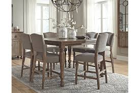 height of dining room table. dining room: magnificent tanshire counter height room table ashley furniture homestore at tables from of