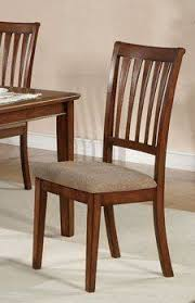 set of 2 dining chairs slate back design in cherry finish by poundex 131 31