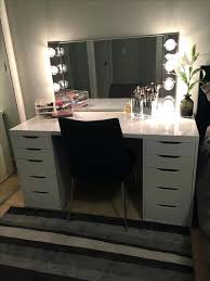 diy hollywood vanity mirror with lights. diy hollywood vanity mirror ikea hack makeup alex drawers with a glossy laminate top home depot lights m