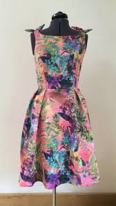 diy sewing projects for women flamingo dress with knotted shoulders diy how to sew