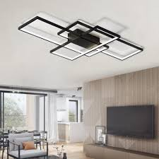 Contemporary Modern Black Led Flush Mount Ceiling Light Square Combination Shape For Office Meeting Room Living Dining Room Bedrooms 11999 Free Shippinggearbestcom Gearbest Modern Black Led Flush Mount Ceiling Light Square Combination Shape