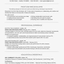 It is always looking for ways to do things faster, more efficiently. Front End Web Developer Cover Letter And Resume Examples