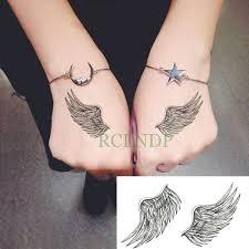 водонепроницаемые временные тату наклейки перо крылья временная татуировка