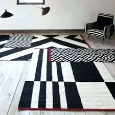 black and white geometric rug uk pattern brilliant modern rugs area throughout idea