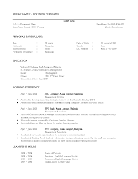 simple resume format sample customer service resume simple resume format sample resume format for fresh graduates one page format cover letter sample