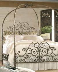 Ornate Metal Canopy Bed For Sale at 1stdibs
