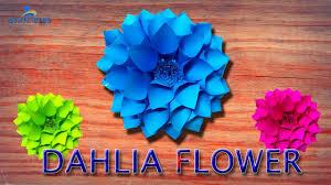 Dahlia Flower Making With Paper Diy Paper Dahlia Tutorial Hd My Wedding Backdrop Flowers Dahlia Wreath Linas Craft Club