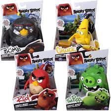 Angry Birds Spielfigur 14cm mit Soundeffekten Red, Bomb, Pig oder Chuck  Figur
