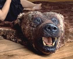 polar bear rug faux with head rug designs stunning fake fur grizzly bear rug with head renio clark