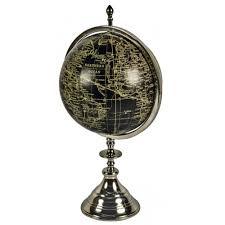 world globe on stand. Black \u0026amp; Silver World Globe On Aluminium Stand