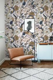 Vintage Floral Wallpaper Retro Wall ...