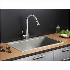 stainless steel kitchen sinks kraususa 32 16 gauge stainless steel single bowl kitchen sink top mount
