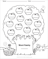 Word Families Template Word Family Template Blank Template Word Family Tree