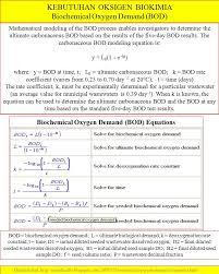 kebutuhan oksigen biokimia biochemical oxygen demand bod