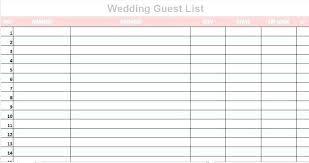 Wedding Guest Spreadsheet Template Wedding Invitation