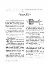 ieee xplore conference table of contents retinomorphic vision systems 11 communication channel design