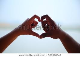 Lovely Couples Making Shape Heart By Stock Photo Edit Now New Lovely Couples In Love