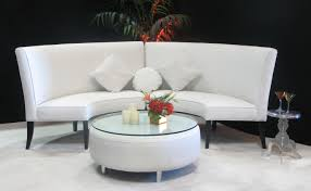 white high back slipper sofa