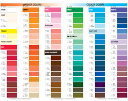 Problem Solving Satin Colour Chart 2019