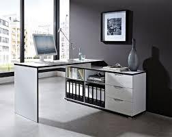 image of modern corner desk white