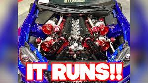 IT RUNS! The V12 QUAD TURBO Toyota 86 is alive! - YouTube