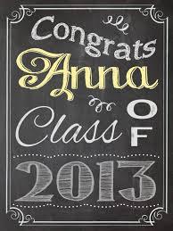 Chalkboard Sign Graduation Party Congratulations Congrats