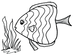 Clown Fish Colouring Pages Children Coloring Page For Preschoolers