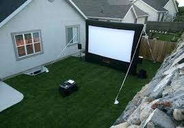 outside projector screen outdoor projector and screen backyard night setup inflatable projector screens outdoor projector outside projector screen