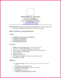 Resume Letter Sample For Ojt Objectives As An Ojt Bsba Students