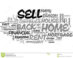Another Word For Rent Why Should I Sell My House And Rent It Back Word Cloud Stock