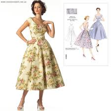 Vogue Pattern Inspiration Vintage Vogue Pattern V48 Button Front Dress Alternative Cool