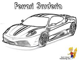 Odd Ferrari Coloring Pages Heart Pounding Cars Free Boys Race To
