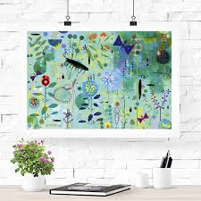 blue garden children s fine art print