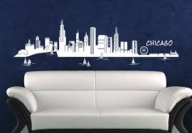 wall decal chicago skyline sweet home chicago cities places