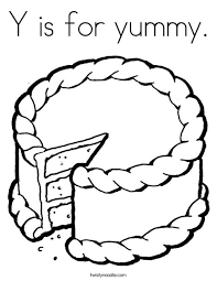 Small Picture Y is for yummy Coloring Page Twisty Noodle