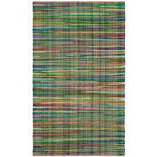 safavieh rag rug green multi 6 ft x 9 ft area rug