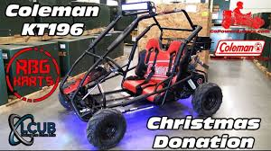 Go Kart Lights Coleman Kt196 With Tillotson 212 Underglow Lighting