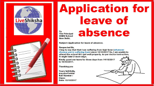 Write A Letter For Leave Write A Leave Application To Your