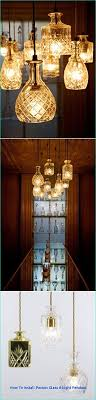 diy crystal decanters as pendant lights ideas of