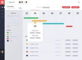 Calendar View Of Project Management Ux Ui Solutions Pinterest